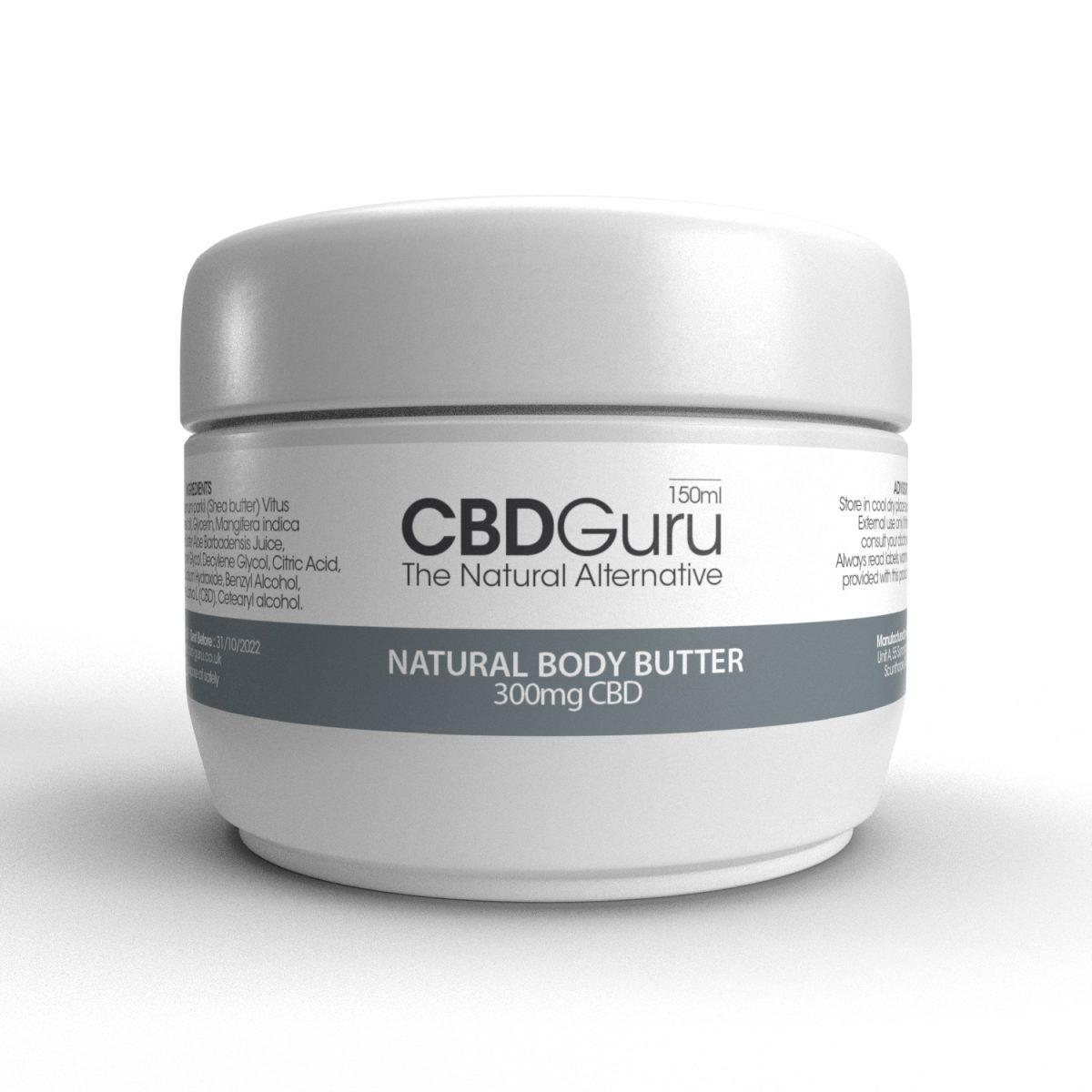 CBD Natural Body Butter 300mg – 150ml
