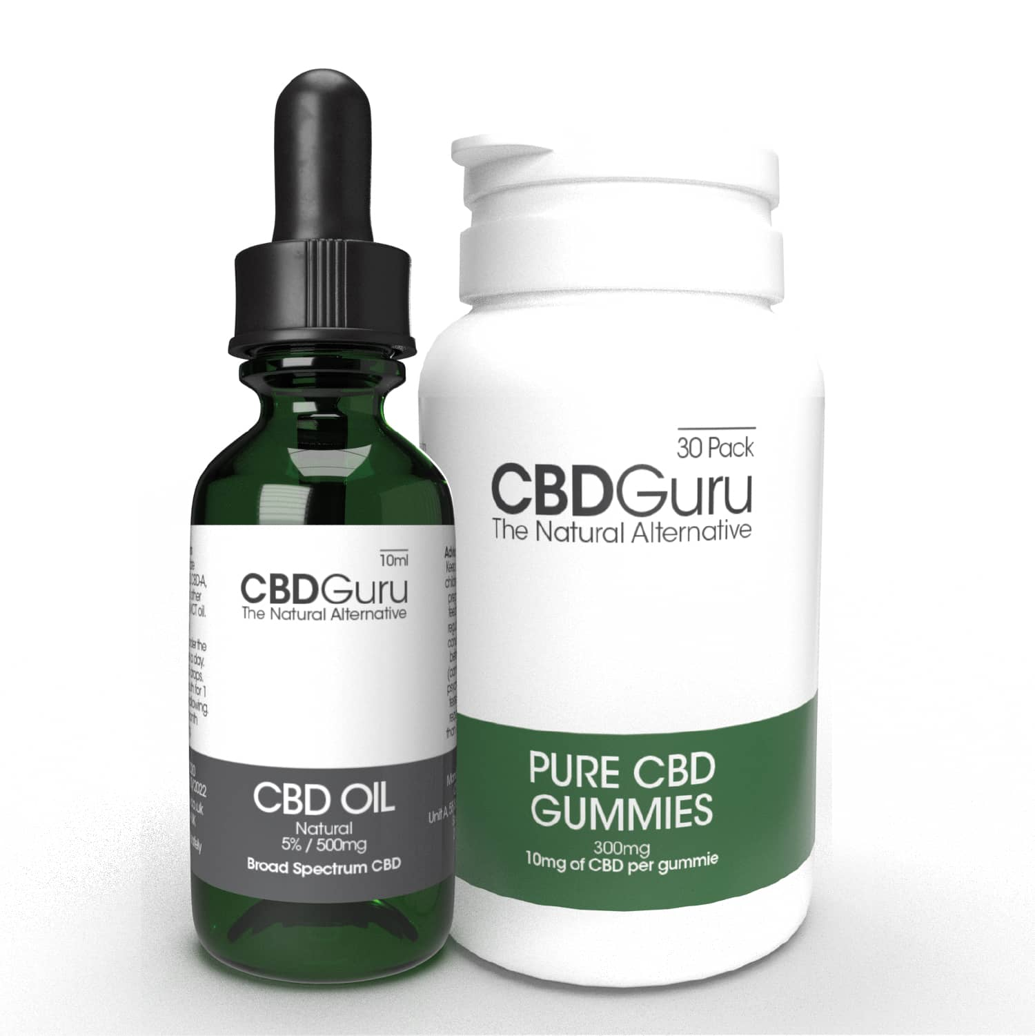 5% CBD Oil & 10mg CBD Gummies Bundle
