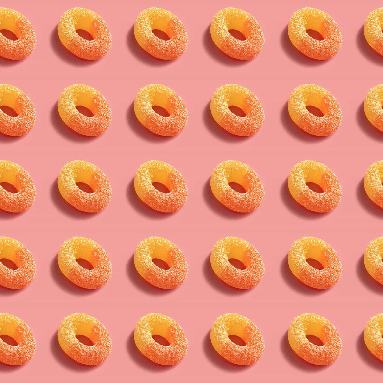 CBD Peach Rings 25mg